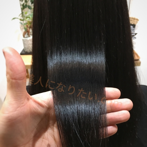ルメント使用後の髪