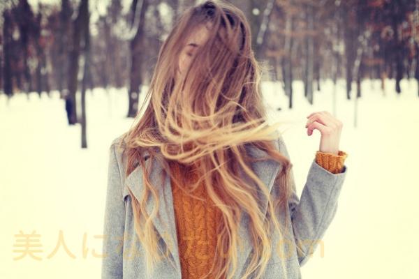髪が美しい女性