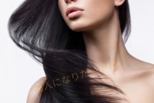 黒髪が美しい女性
