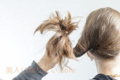 乾燥した髪